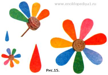 Цветик семицветик из картона сделать