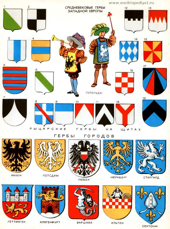 гербы картинки средневековые